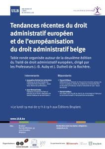 Table ronde __Tendances récentes du droit administratif__03.04.2014