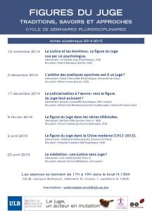 Figures du juge - 2014-15