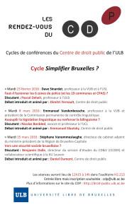 Simplifier Bruxelles _ 2016 (affiche)