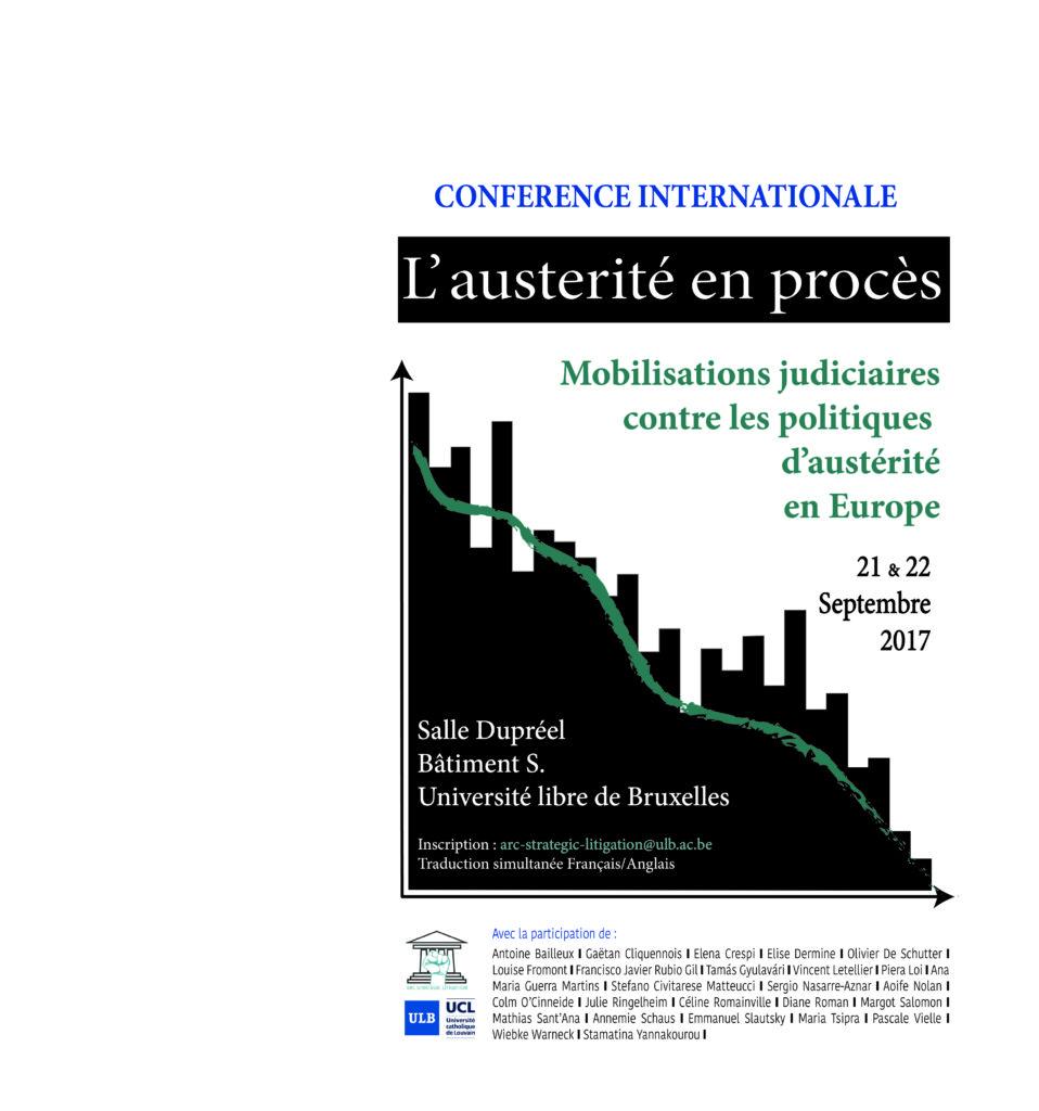 Affiche Austérité en procès