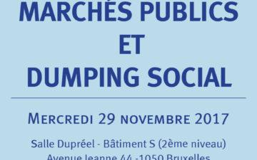Ecouter la table ronde de l'après-midi d'études : Marchés publics et dumping social