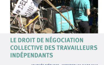 Le droit de négociation collective des travailleurs indépendants