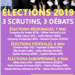 Elections 2019. 3 crutins, 3 débats